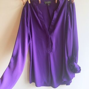 The Limited Silk Look Purple Blouse